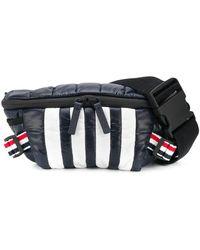 Thom Browne Rwb Stripe Detail Belt Bag - Black