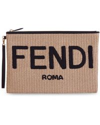 Fendi Flat Pouch - Brown