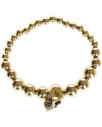 Alexander McQueen Gold-tone Brass Skull Bracelet - Metallic