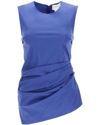 Sportmax Draped Top 40 Cotton - Blue