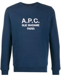 A.P.C. Sweatshirt Rufus Navy - Blue