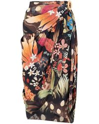 Lanvin Multicolour Printed Silk Skirt