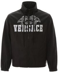 Versace Logo Print Jacket - Black