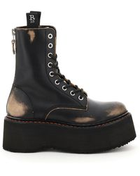 R13 Double Stack Boots - Black