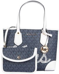 MICHAEL Michael Kors Mini Eva Tote Bag - Blue