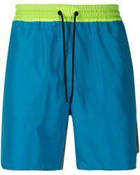 MSGM Two-tone Track Shorts - Blue