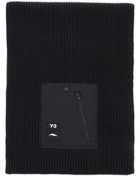 Y-3 Ch3 Pocket Knit Scarf - Black