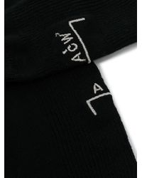 A_COLD_WALL* Black Cotton Socks With Logo