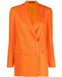 Tagliatore Jasmine Double-breasted Blazer - Orange