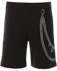 Alexander McQueen Shorts With Embroidery - Black