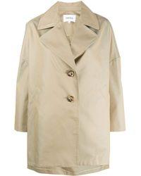 Enfold Single Breasted Coat - Natural