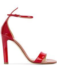 Francesco Russo Patent Colour Block Sandals - Red