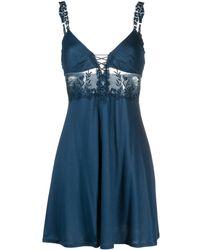 La Perla Zephyr Silk Nightdress - Blue