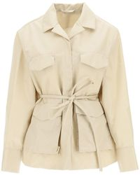 Totême Belted Army Jacket 36 Technical - Natural