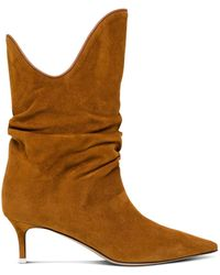 The Attico Tate Ankle Boots - Brown