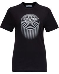 Marine Serre Jersey T-shirt With Front Print - Black