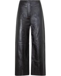 Totême Totême Wide Leather Pants - Multicolour