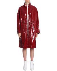 Isabel Marant Ensel Long Waterproof Coat - Red
