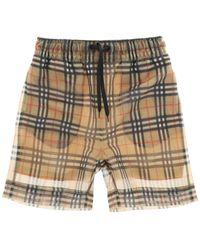 Burberry Tawney Check Mesh Shorts - Multicolour