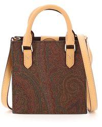 Etro Paisley Classic Mini Tote Bag - Red