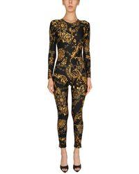 Versace Jeans Couture One Piece Suit With Bijoux Baroque Print - Multicolour