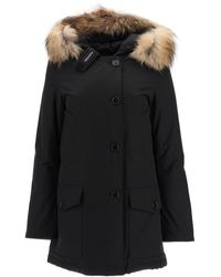 Woolrich Arctic Parka With Murmasky Fur - Black