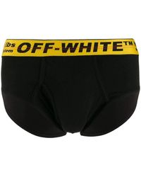 Off-White c/o Virgil Abloh Industrial Logo Black/yellow Waistband Briefs