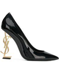Saint Laurent Opyum Patent Leather Court Shoes - Black