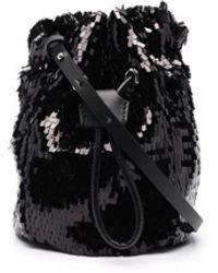DSquared² Sequin-embellished Bucket Bag - White