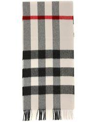 Burberry Half Mega Check Cashmere Scarf - Multicolor