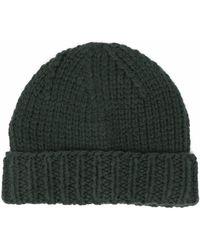 Maison Margiela Ribbed-knit Wool Beanie - Green