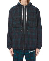 Palm Angels - Plaid Logo Printed Windbreaker - Lyst
