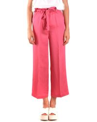 Twin Set Viscose Trousers - Pink