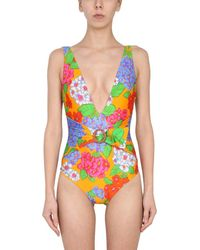 "Zimmermann ""riders Plunge"" One Piece Swimsuit - Multicolor"