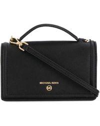 MICHAEL Michael Kors Jet Set Leather Crossbody Bag - Black
