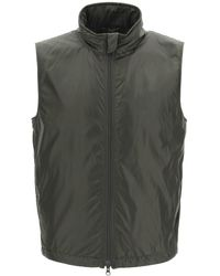 Aspesi Vernes Vest With Thermore Padding S Technical - Green