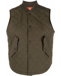DSquared² Quilted Cotton Gilet - Green