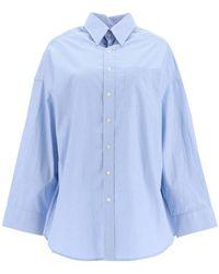 R13 Oxford Oversized Shirt - Blue