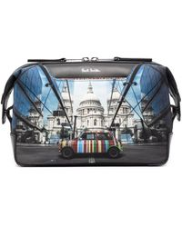 Paul Smith London-print Wash Bag - Blue