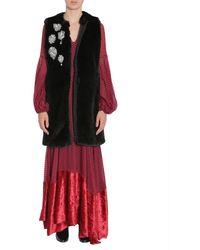 Ainea Sleeveless Faux-fur Coat - Multicolour