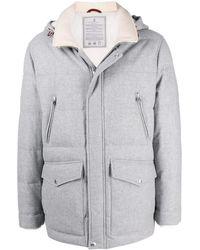 Brunello Cucinelli Coats White - Grey