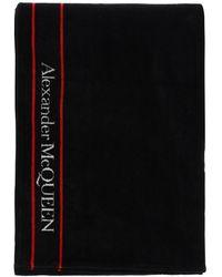 Alexander McQueen Terry Beach Towel Selvedge - Black