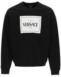 Versace Logo Print Sweatshirt - Black