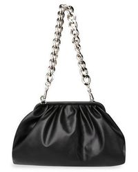 Steve Madden Black Soft Bag With Chain Brevive - Unique, Black