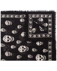 Alexander McQueen Skull Scarf - Black