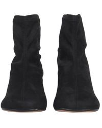 MM6 by Maison Martin Margiela Eco Suede Stretch Boots - Black