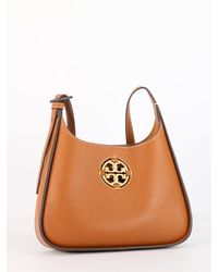 Tory Burch Miller Small Hobo Leather Bag - Brown