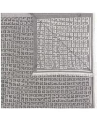 Givenchy Intarsia-knit Motif-detail Scarf - Black