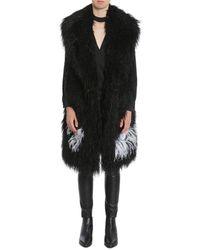 Ainea Feather Eco Fur - Black