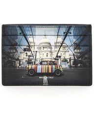 Paul Smith Mini Print Card Holder - Black